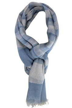Simple & tasteful, this unique over sized scarf wrap is made from delightfully soft & lightweight material so you can indulge all year long. Thick & bold metallic stripes decorate the body of the enti