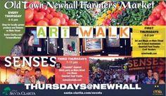 Farmers Marker every Thursday in Old Town Newhall near Santa Clarita, CA