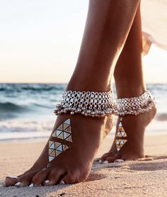 Flash Tatoo And Anklet Beach Style