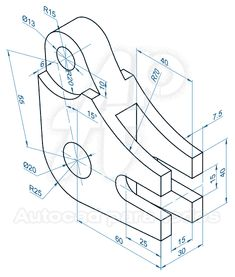 How to Draw A Loch Ness Monster - Drawing On Demand Isometric Drawing Exercises, Autocad Isometric Drawing, Mechanical Engineering Design, Mechanical Design, Drawing Practice, Drawing Skills, Bloc Autocad, 3d Drawing Techniques, Hard Drawings
