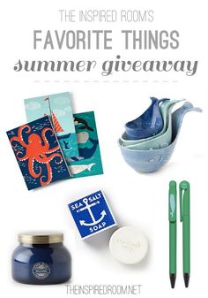 Love these coastal inspired summer things from @Anthropologie and @Amanda Harris Source! Details in the post (plus a giveaway!)