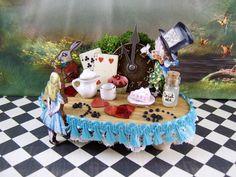 Alice's in Wonderlands Miniature Tea Party by thefaerywatcher, $38.00