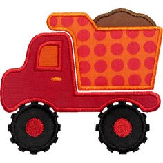 Dump Truck Applique Digital Embroidery Design