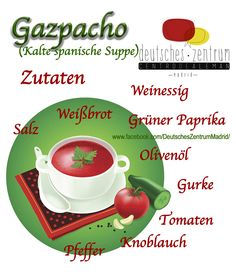 Gazpacho  Deutsch Wortschatz Grammatik German Alemán DAF Vocabulario