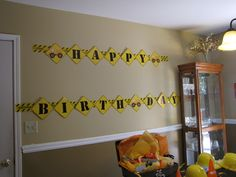 Stephanie P's Birthday / Construction party - Photo Gallery at Catch My Party Sports Themed Birthday Party, Boy Birthday Parties, 3rd Birthday, Birthday Ideas, Construction Theme, Construction Birthday Parties, Diy Banner, Happy Birthday Banners, Party Planning