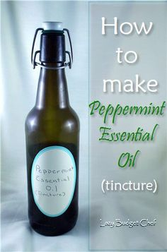 Maybe can use something other than alcohol to extract? Lazy Budget Chef: How to Make Peppermint Essential Oil (Tincture)