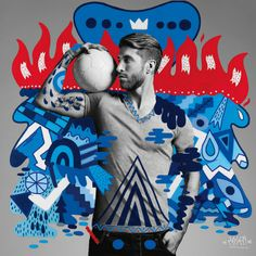 Sergio Ramos, soccer at Real Madrid.  Commercial image by Hattie Stewart, Jaz y Ever, Ricardo AKN, Zosen and Merijn Hos.