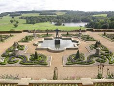Harewood House - Terrace Gardens designed by Sir Charles Barry were added in 1844. A magnificient bronze statue of Orpheus stands at the centre and looks out over the grounds of the estate.