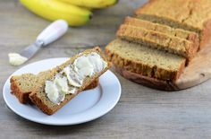 Banana bread made with millet and coconut flours