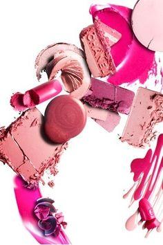 cosmetics beauty product photography and styling #pink #lipstick #blush