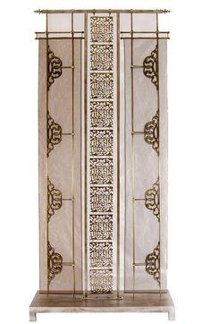 Exotic screen by Deniz Tunc Partition Screen, Room Divider Screen, Partition Design, Room Dividers, Asian Furniture, Chinese Furniture, Furniture Design, Jaali Design, Pooja Room Design
