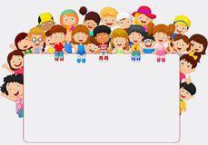 Desenhos Animados Das Crianças Da Multidão Com Sinal Vazio - Baixe conteúdos de Alta Qualidade entre mais de 56 Milhões de Fotos de Stock, Imagens e Vectores. Registe-se GRATUITAMENTE hoje. Imagem: 49366402