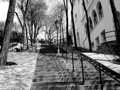 This is what I remember of Monmartre--steps and more steps.  Home to Moulin Rouge, artists and great food!