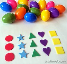 Little Family Fun: Easter Egg Shape Hunt! Easter Activities For Preschool, Easter Games For Kids, Craft Activities, Preschool Age, Preschool Learning, Activity Ideas, Holiday Activities, Teaching, Easter Ideas