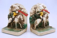 Polo Player Bookends