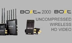 UNCOMPRESSED WIRELESS HD VIDEO The Teradek Bolt is a latency-free wireless transmission system that sends 4:2:2, 1080p60 video at up to 300ft or 2000ft. Bolt comes in three varieties; the unicast Bolt,...