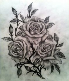 dessin tatouage rose                                                                                                                                                                                 Plus