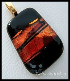 Such devine colors in this fused glass pendant