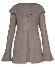 Hemp and Organic Cotton Cardigan: Soul Flower Clothing