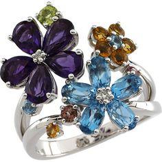 Multicolored gemstones - love the floral motif! Wedding Anniversary Gift List, Wedding Anniversary Presents, Gemstone List, Gemstone Bracelets, Tutti Frutti, Wedding Arch Rental, Diamond Stores, Girls Jewelry, Fine Jewelry