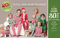 Hanna Andersson - Christmas PJ's for the whole family