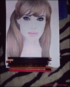 angelina jolie, portrait,drawings, drawing,portrait,pencils,illustration,carolina dudrova
