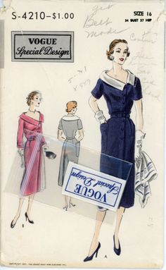 Vogue 4210 Special Design Misses 1950s Dress by CynicalGirl