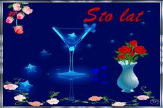 Urodziny i imieniny: Gify urodzinowe Beautiful Roses, Wine Glass, Happy Birthday, Table Decorations, Tableware, Flowers, Happy Brithday, Dinnerware, Urari La Multi Ani