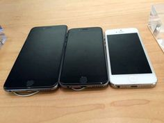 The iPhones 6 Plus, 6 and 5S