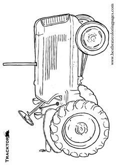 Pencil Portrait of Massey Ferguson Tractor, Drawn from