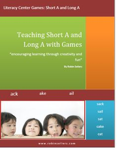 FREE from ROBIN SELLERS--This literacy game and packet will help your students learn to recognize short A and long A vowel sounds in a creative and fun way. Students enjoy games and they will enjoy this game too. Education And Literacy, Early Literacy, Literacy Activities, Literacy Centers, Student Learning, Teaching Kids, Vowel Activities, Teacher Books, Teacher Stuff