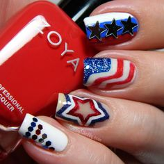cool fourth of july nail art