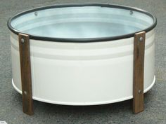 PLANTER BOX: | Trade Me ~ Up-cycled from a steel 44 gallon drum (cleaned and…