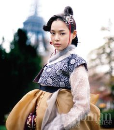 Hanbok. Traditional Korean Wear except this hanbok is modernized