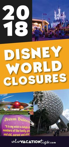 Don't be surprised with closed attractions on your next Disney Vacation. A list of the 2018 closures and refurbishments at Walt Disney World.