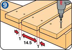 Construire une belle terrasse en bois? Instructions pour construire une terrasse avec des lames de bois. Explication simple et dessins clairs.
