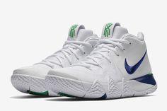 best service 7e21b f9069 Nike KYRIE 4 in White, Deep Royal   Green. Nike KyrieAdidas Basketball ShoesJordan  ...