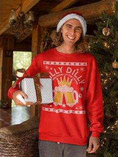 6279149864da Dilly Dilly A True Friend Of The Crown Ugly Christmas Sweater