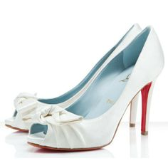 f8ff0a528eb0 Christian Louboutin Madame Butterfly 100 Satin Peep Toe Pumps Of
