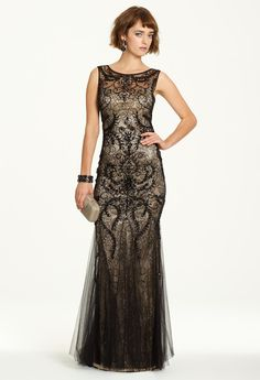 Two-Tone Beaded Dres