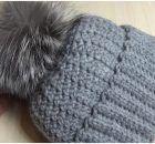 Woman's Warm Hat With Pom Pom