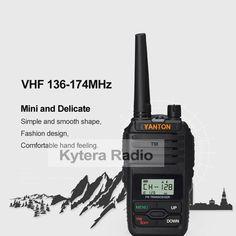 Sale US $36.89  Yanton Mini Single Band VHF 136-174 Handheld Two Way Radio 5W 199 Memory Channels Walkie Talkie Transceiver  #Yanton #Mini #Single #Band #---- #Handheld #Radio #Memory #Channels #Walkie #Talkie #Transceiver