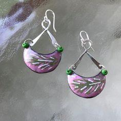Enameled Copper Earrings by CharmingLaneGlass on Etsy