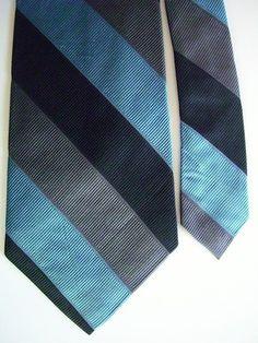 "9415 NEW EXPRESS Mens Necktie 100% Silk Neck Tie Blue Gray Stripes 3 3/4"" x 60"" on eBay!"
