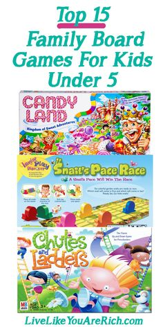 Family game night is an important part of spending time together and encouraging critical thinking and fine motor skills. Click for a roundup of the top 15 board games for kids under 5!