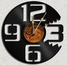 Bitting Vinyl Record Clock - upcycled vinyl records