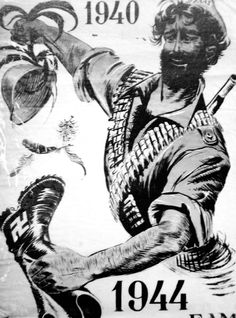 Poster, Greek Liberation Front, Greece - World War II,. In Ancient Times, Albania, Military History, World War Ii, Vintage Posters, Wwii, Island, Image, Athens