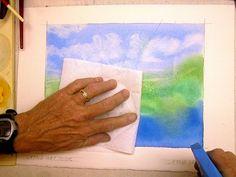 Lifting dry watercolor paint tutorial