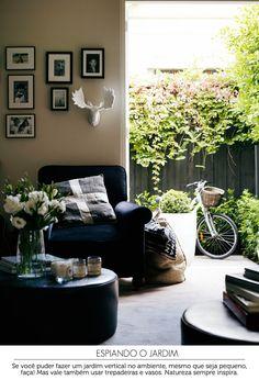 cozy living room and garden | sala de estar e jardim #decor #sala