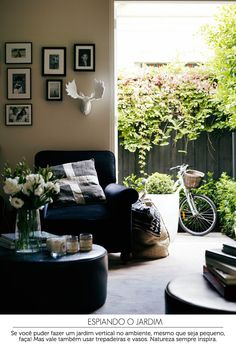 cozy living room and garden | sala de estar e jardim #decor #sala